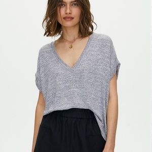 Aritzia WilfredFree Jersey Heathered Black T-Shirt